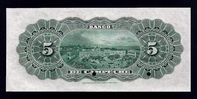 Billetes Mexico 5 Pesos note