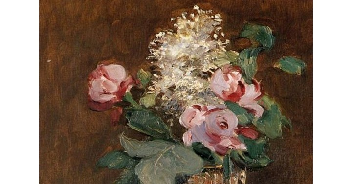 Flowers In A Crystal Vase By Edouard Manet Inspiration