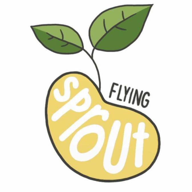 Flying sprout logo
