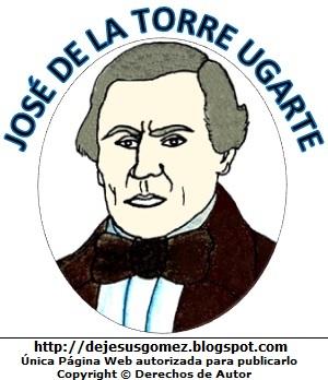 José de la Torre Ugarte autor de la letra del himno del Perú. Dibujo de José de la Torre Ugarte para niños. Dibujo de José de la Torre Ugarte hecho por Jesus Gómez