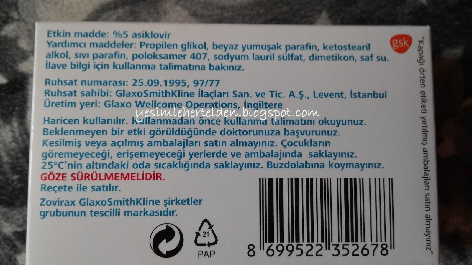 Asiklovir - herpese karşı merhem