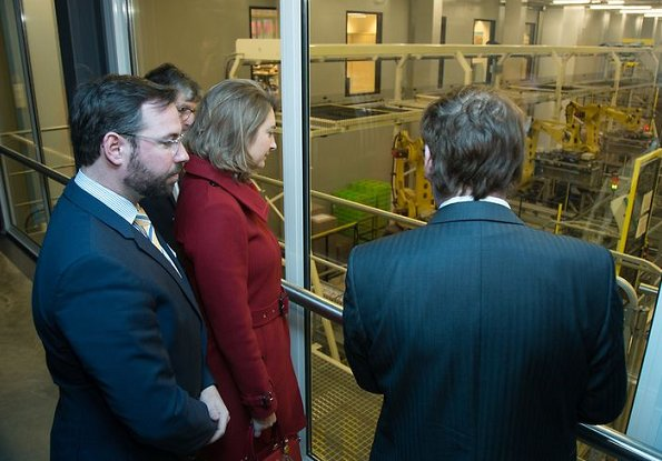 Hereditary Grand Duchess Stephanie and Hereditary Grand Duke Guillaume visited Luxlait