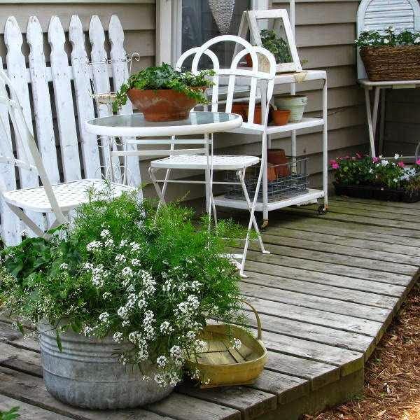 Terrazas Y Patios De Estilo Shabby Chic Guia De Jardin