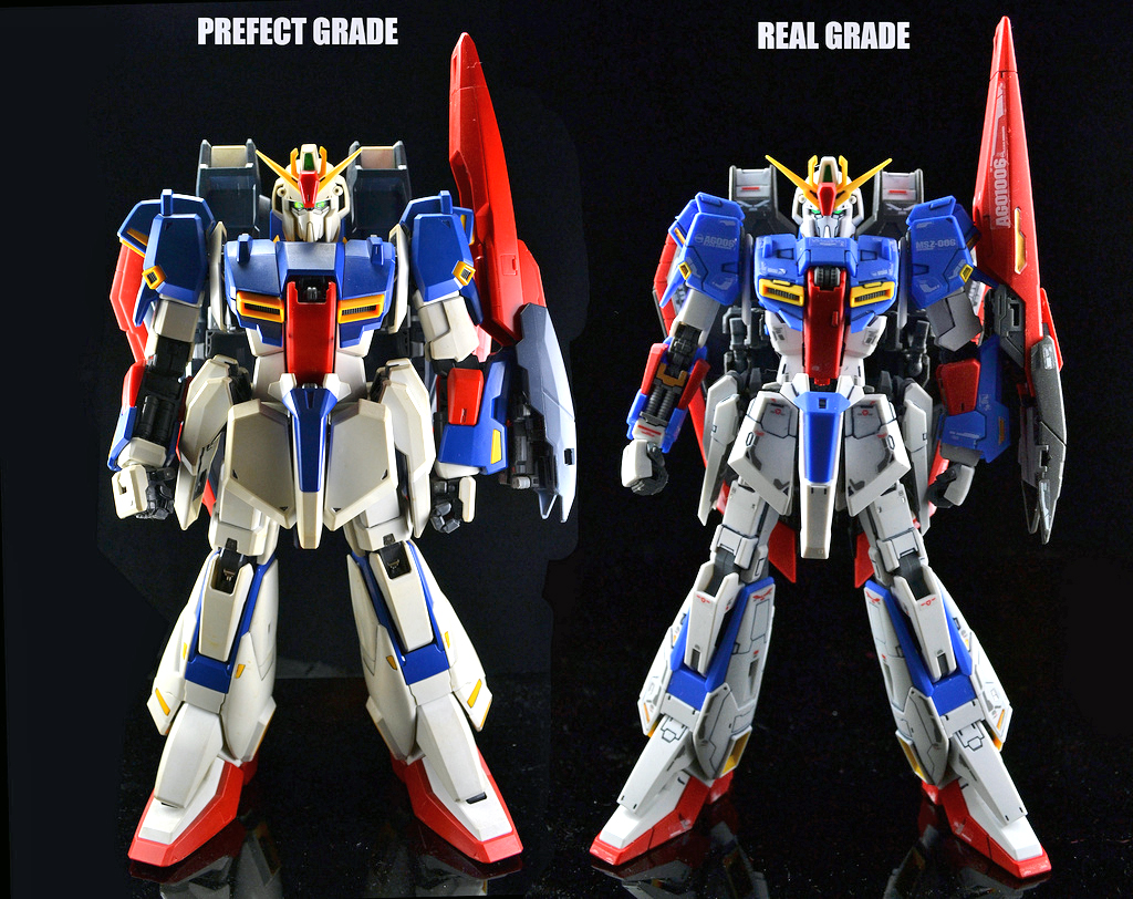 GUNDAM GUY: Comparison Image Of The RG 1/144 Zeta Gundam & PG 1/60 Zeta Gundam