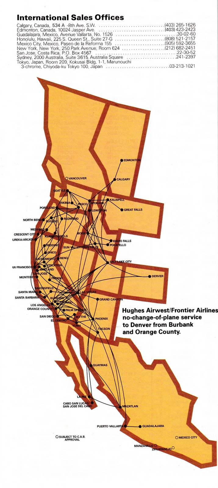 Airline Timetables: Hughes Airwest - January, 1978 on central airlines route map, air niugini route map, iberia route map, twa route map, national airlines route map, eastern air lines route map, horizon air route map, republic airlines route map, delta air lines route map, aeroperu route map, american airlines route map, skywest airlines route map, air south route map, luxair route map, great northern route map, compass airlines route map, british airways route map, alaska airlines route map, germanwings route map, aeroflot route map,