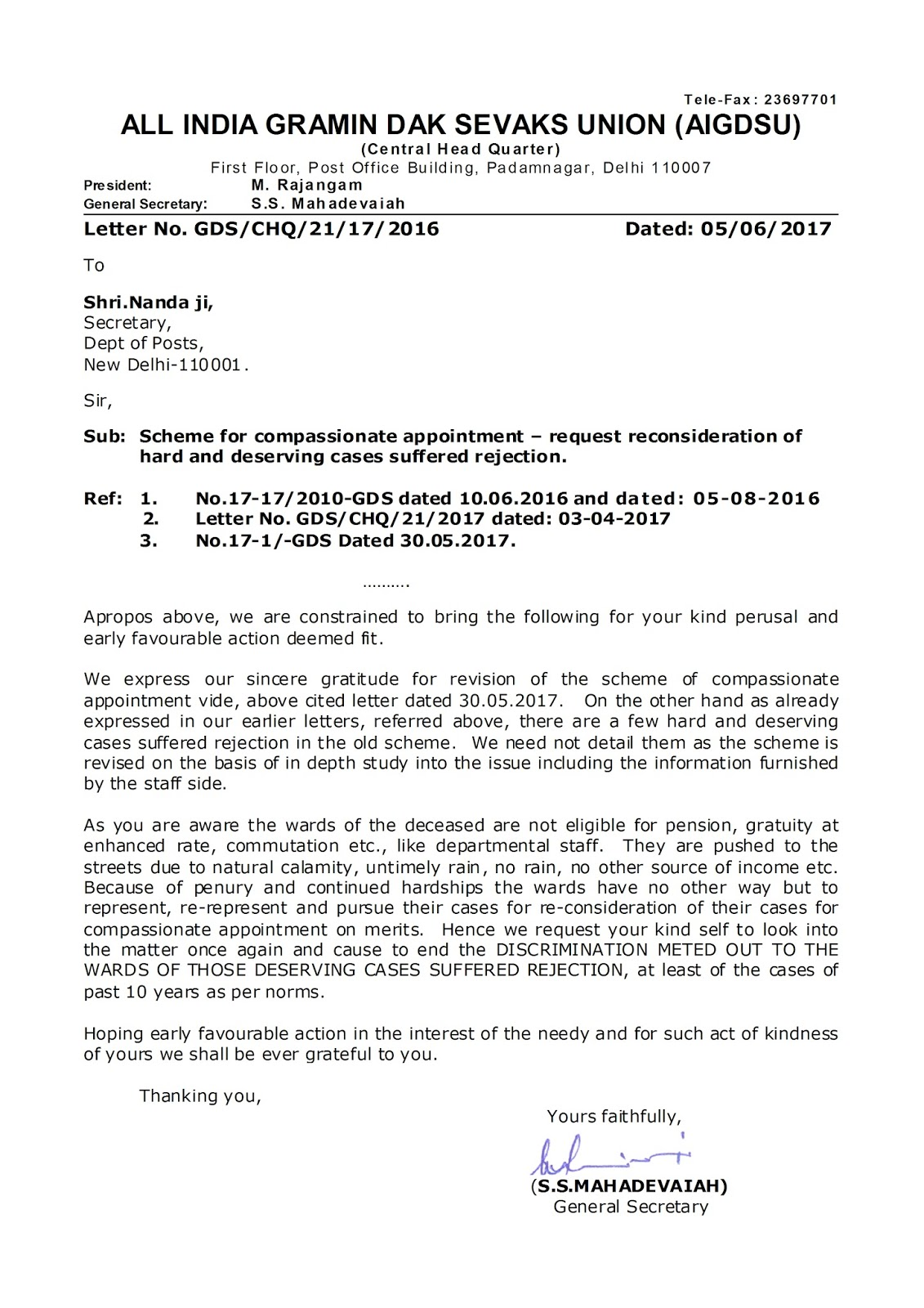 letter names that end in n 2017 letter format boy chq letter reg scheme for compassionate appointment 4