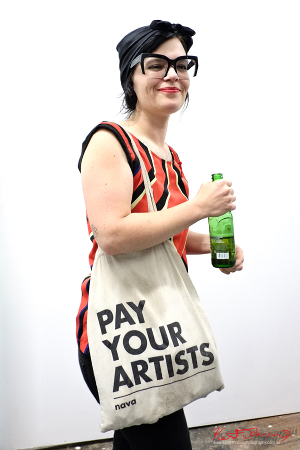 NAVA - Pay YOur Atists bag - Alaska Projects on William Street, Street Fashion Sydney.