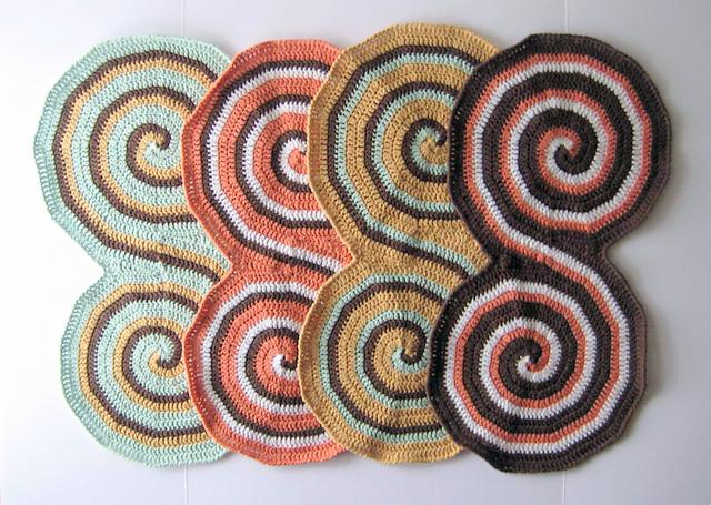 Baby burp cloth Crochet pattern