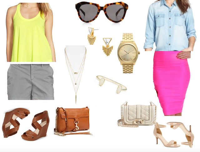 neon and neutral outfit ideas