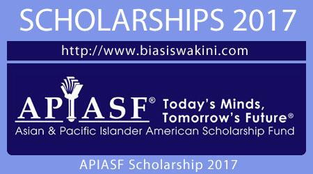APIASF Scholarship 2017