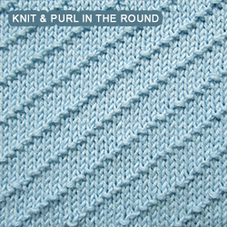 Knitting Stitches For Knitting In The Round : Diagonal Seed - knitting in the round Knit - Purl stitches