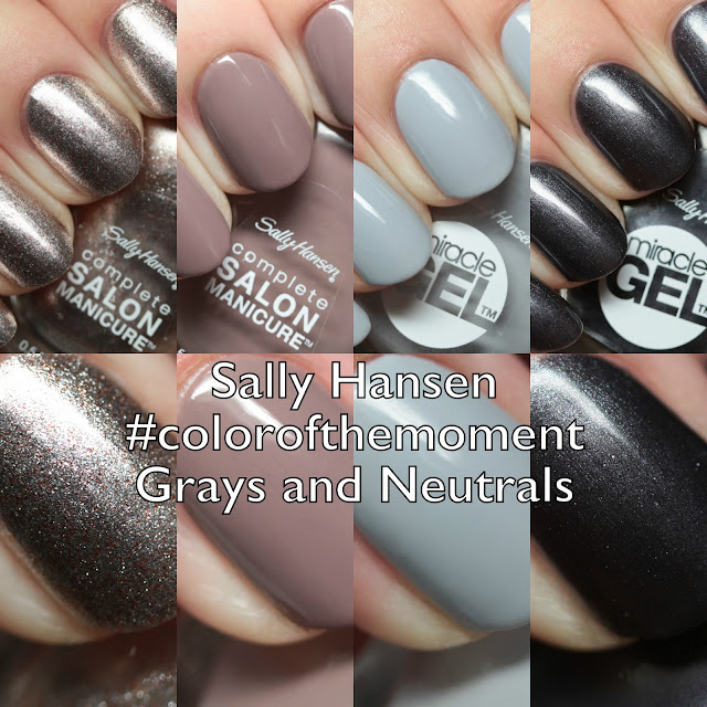 Sally Hansen Complete Salon Manicure and Miracle Gel #colorofthemoment Grays and Neutrals