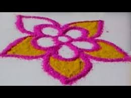Simple Rangoli Designs For Kids