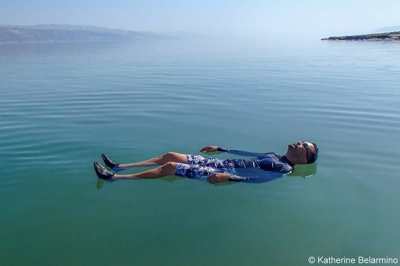 Romeo Floating in the Dead Sea and Tips Israel