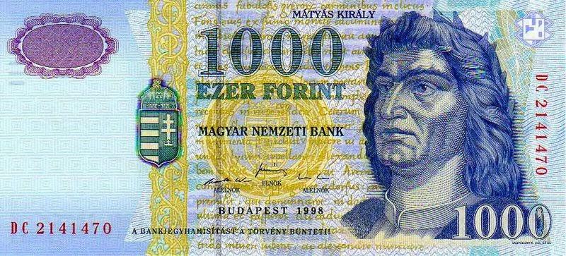 Wisselkoers Euro - Forint: Hongaarse forint