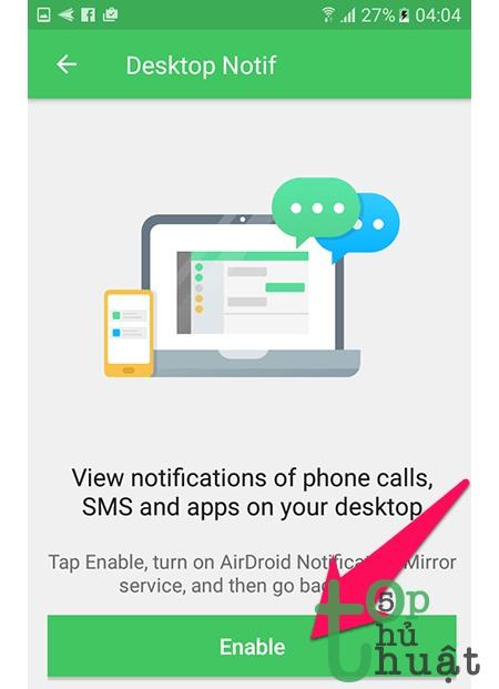 Thủ thuật nhận thông báo từ điện thoại ngay trên laptop