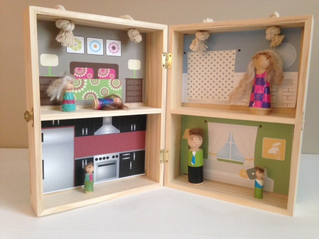 doll house, wood, Silhouette, peg people clothes, Silhouette Studio, free cut file