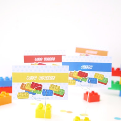 DIY Lego Bricks Inspired Place-card Holders