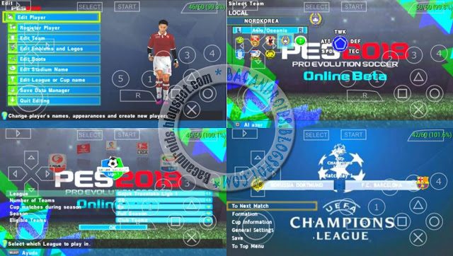 Download PES Army 2018 Update Patch Savedata+Texture Full Transfer Pemain for PSP Android