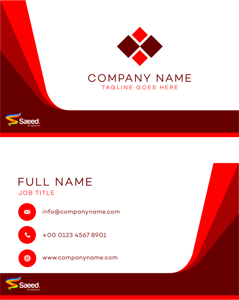 Saeed Graphic Visiting card CDR – Visiting Card