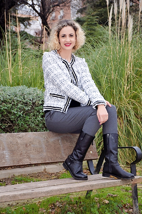 Outfit-Americana-tweed-adorno-perla-4