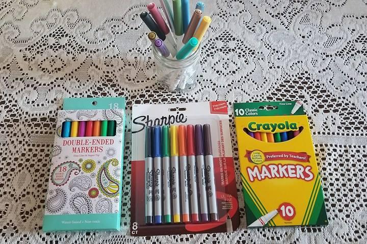 Alternative markers for cricut