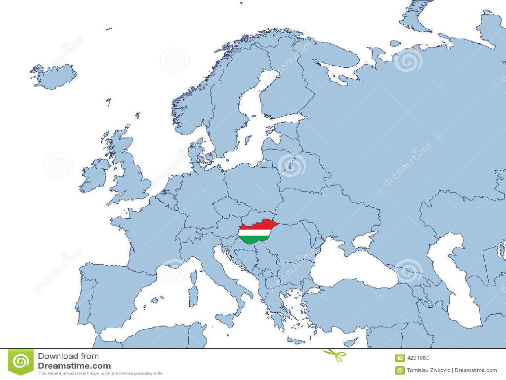 hungary in europe map