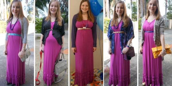 ways to layer up a pink maxi dress for multiple seasons 5 outfit ideas | awayfromblue