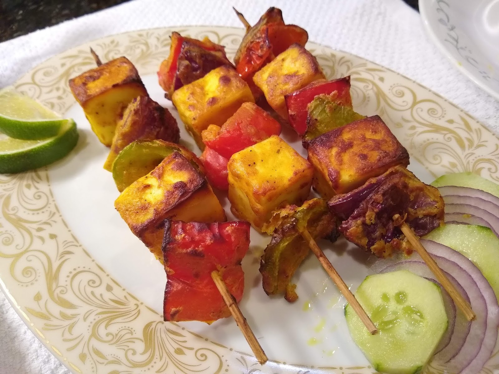 Paneer Tikka Indian Cottage Cheese Bites Living Smart And Healthy