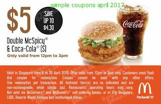 Mcdonalds coupons for april 2017