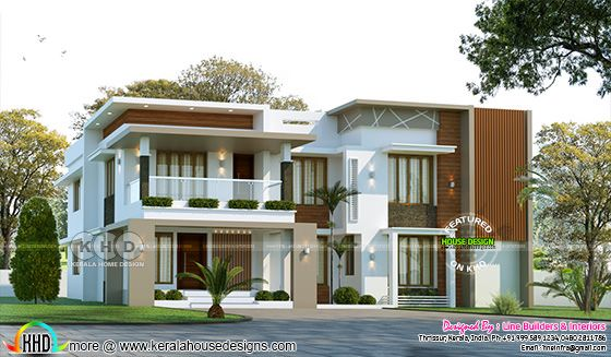 2893 sq-ft flat roof style modern house plan
