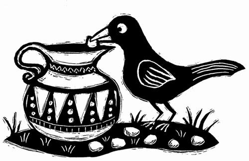 Cerita Fabel Bahasa Inggris Burung Gagak Dan Kendi Air Terjemahan