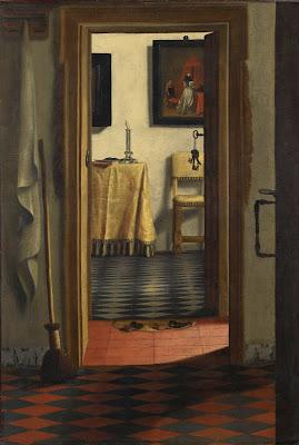 Samuel van Hoogstraten - les pantoufles ou vue d'un interieur