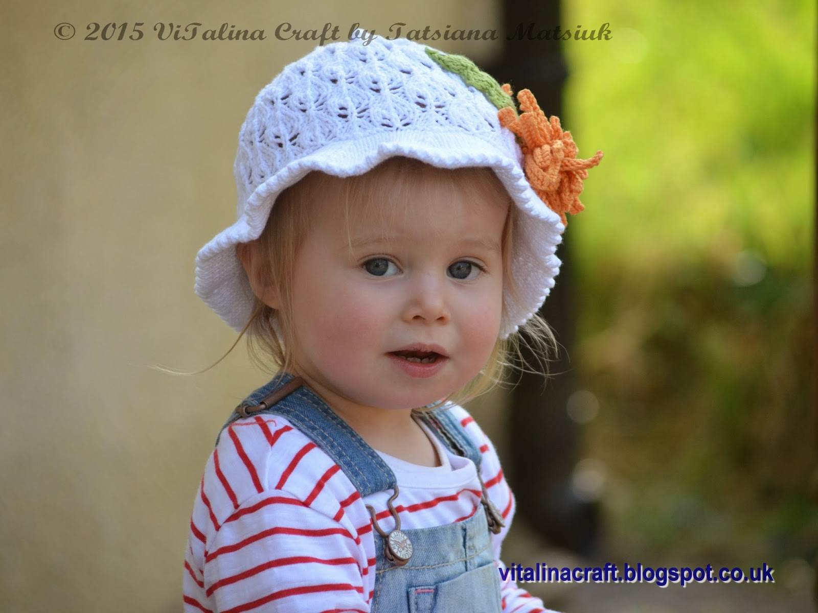 Aster Flower Panama Hat