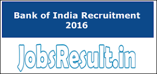 Bank of India Recruitment 2016