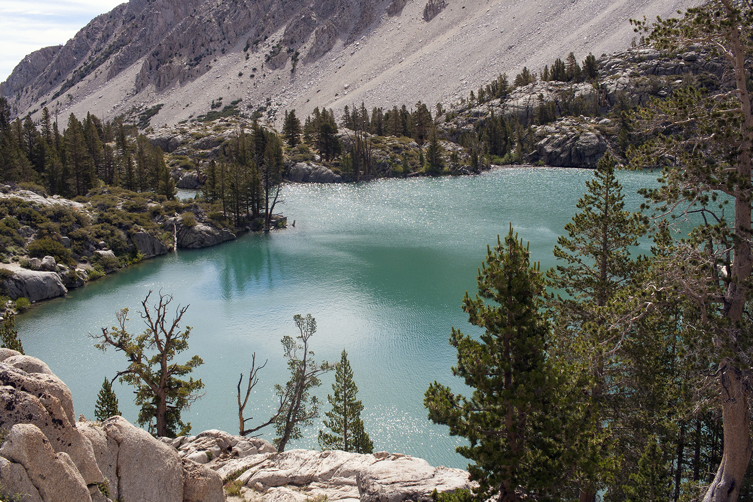 Big Pine Creek, Inyo National Forest, John Muir Wilderness, Big Pine North Fork Trail, Mountains, Hiking, First Lake