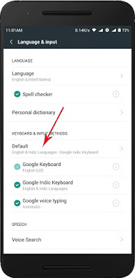 select google indic as your keyboard