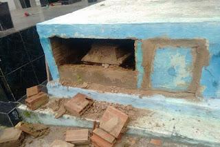 Túmulo onde foi enterrado corpo do sargento da Polícia Militar é violado na Paraíba