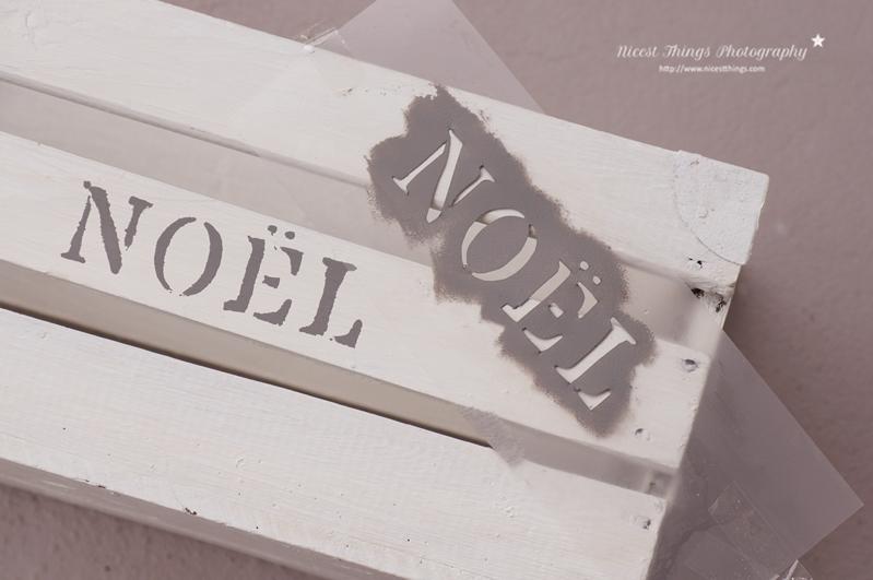 DIY Adventskalender Kiste Adventskiste Holzkiste Stencil Säckchen