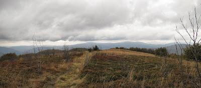 Panorama z Jasła na wschód i północny wschód.