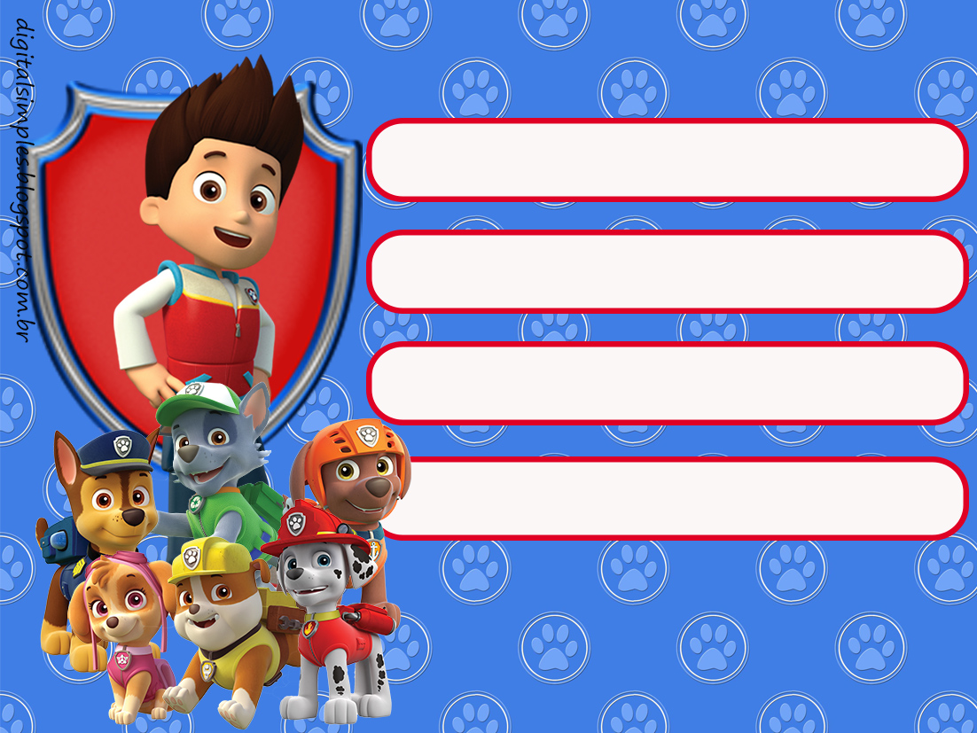 Paw Patrol Birthday Party Free Printable Invitations Labels Or Cards