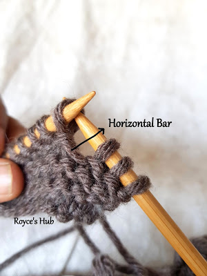 horizontal bar knitting