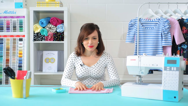 Learn to Sew Jersey Tops - online workshop