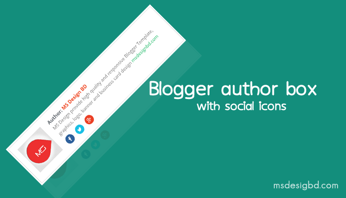 Blogger Author Bio box with Social icons
