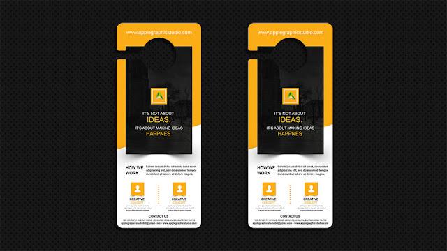 mockup-door-hanger How to Design Mockup for a Door Hanger - Photoshop CC Tutorial download