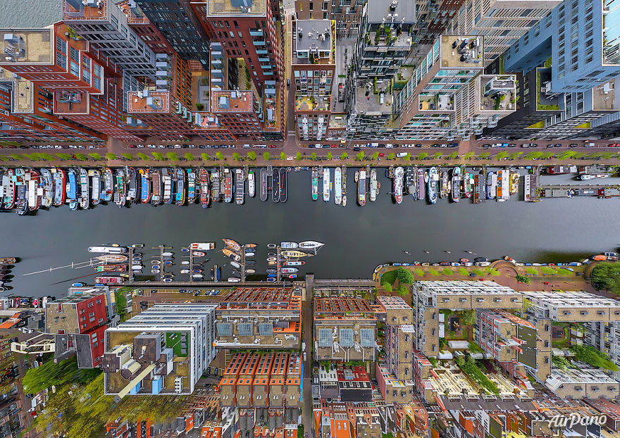 Beautiful Panoramic Pictures Of 20 Famous Cities - Westerdok, Amsterdam, The Netherlands