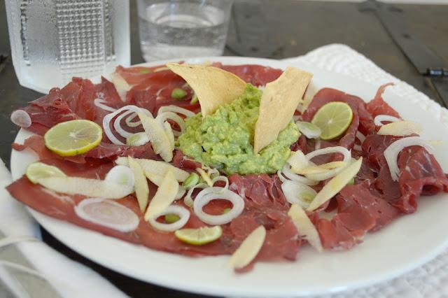 insalata di Bresaola e guacamole