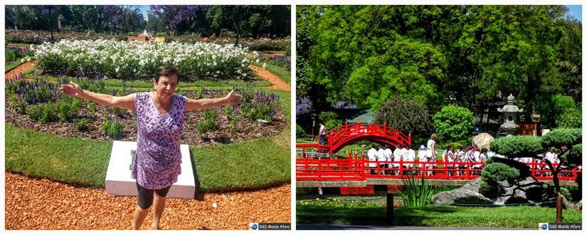 Rosedal e jardim Japonês Buenos Aires Argentina