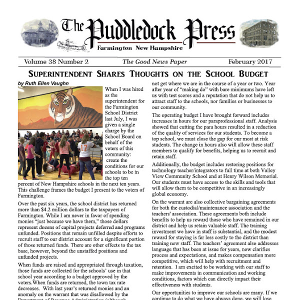 The February 2017 Puddledock Press is Now Available Online.