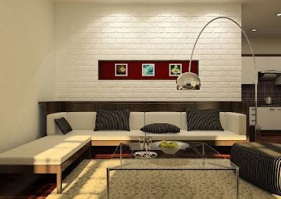 Ide desain interior rumah modern minimalis semakin berkembang dan menarik Rancangan Desain Keramik Dinding Ruang Tamu